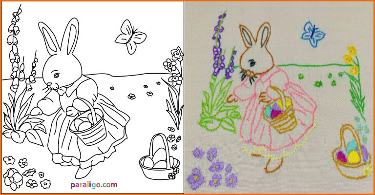 Easter emboidery pattern