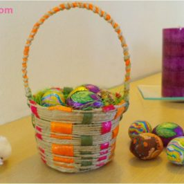 Easter twine basket