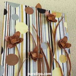 Egg carton flowers: 3d wall art video tutorial