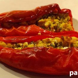 Stuffed red pepper recipe: Feta cheese stuffed red peppers
