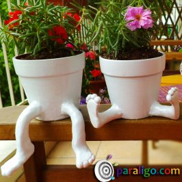 Ceramic pots with feet Diy