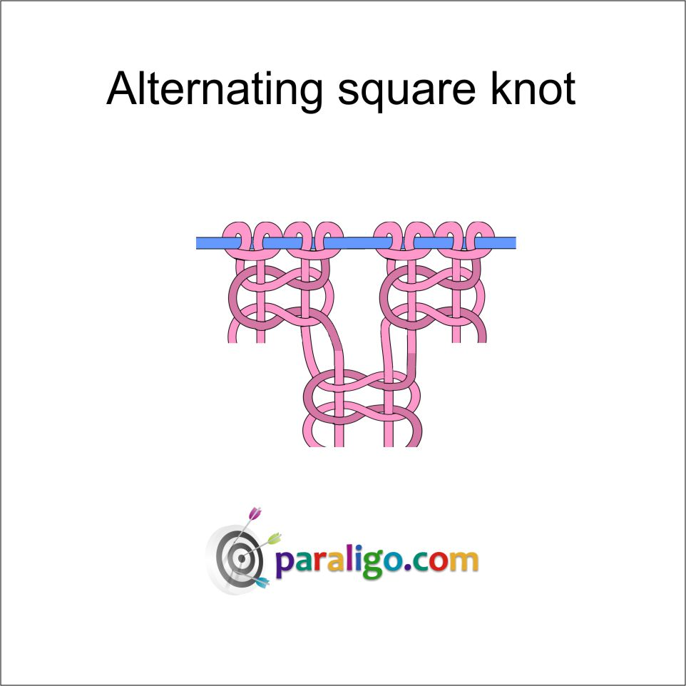 Altrernating square knot Rev