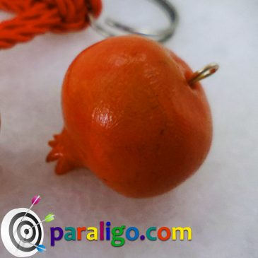 Polymer clay charms – pomegranates
