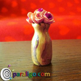 Polymer Clay Vase of Roses
