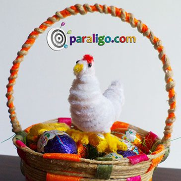 Easter Chicken with Pipe Cleaners